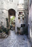 Old city. Detail of a small street in an old city in Croatia Stock Image