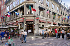 Old city district of Montreal. stock images
