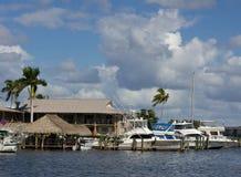 Old city dock in Naples, Florida Stock Photo