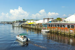 Old city dock  in tropical Naples Royalty Free Stock Photography