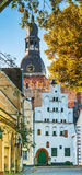 Old city and donme of the biggest church in Riga Royalty Free Stock Photos