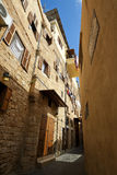 Old city downtown ancient streets perspective view in Saida, Leb. Anon Stock Photography