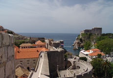 Old City of Dubrovnik. View of the parapet around the old city walls Royalty Free Stock Photo