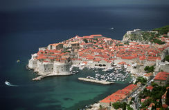 The old city of Dubrovnik stock photo