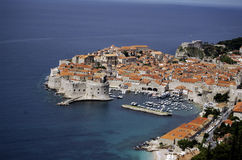 Old city of Dubrovnik and Adriatic coast. Royalty Free Stock Image