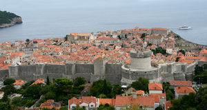 The old city of Dubrovnik Stock Images