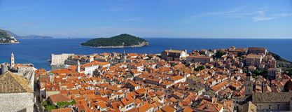 Old city of Dubrovnik, Croatia. Panoramic view of the old city of Dubrovnik, Croatia Royalty Free Stock Image