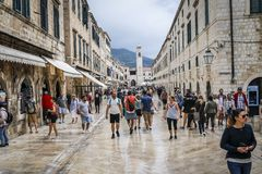 Old city of Dubrovnik in Croatia stock photo