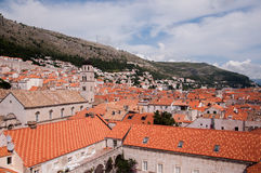 The old city of Dubrovnik, Croatia, seen from above Stock Photography