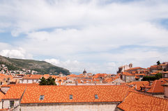 The old city of Dubrovnik, Croatia, seen from above Stock Photo