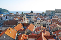 Old city of Dubrovnik, Croatia. View from the city wall Stock Photography