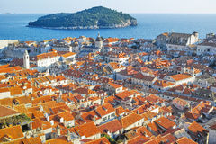 Old city of Dubrovnik, Croatia. View from the city wall Stock Photos