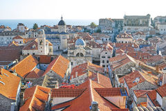 Old city of Dubrovnik, Croatia. View from the city wall Royalty Free Stock Photo