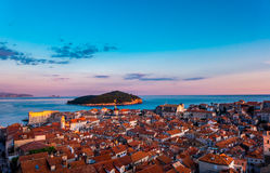 The old city of Dubrovnik in Croatia Royalty Free Stock Image