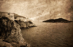 Old city Dubrovnik fortification, Croatia, Europe Royalty Free Stock Images