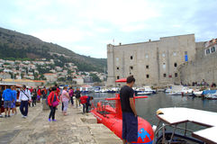 Old city of Dubrovnik jetty Stock Image