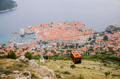 The old city of Dubrovnik seen from above Royalty Free Stock Image