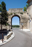 Old city entrance Avignon Stock Photo