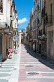 Old city in Figueres, Spain Royalty Free Stock Photos