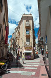 Old city in Figueres Stock Photo
