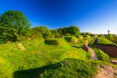 Old city fortifications in Gdansk Stock Photography