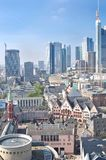 Old city of Frankfurt and modern buildings Stock Images