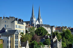 Old city of the french town Pau Royalty Free Stock Image
