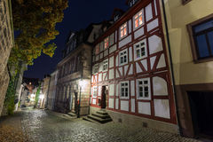 Old city fulda germany in the evening Stock Photos