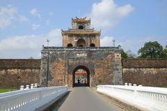 Old city, gate of Hue citadel. Vietnam Stock Photo