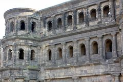 The old city gate Porta Nigra. Germany Royalty Free Stock Photos