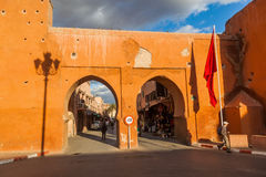 Old city gates in Marrakesh Royalty Free Stock Images