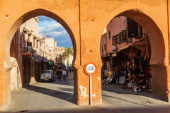 Old city gates in Marrakesh Stock Image