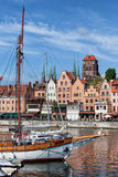 Old City Of Gdansk River View Royalty Free Stock Photography