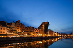 Old City of Gdansk at Twilight Royalty Free Stock Images