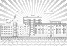 Old city graphic drawing Stock Photos