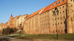 Old City - Grudziadz. Street of old city in grudziądzu Royalty Free Stock Photo