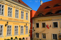 Old city, Gyor, Hungary Stock Images