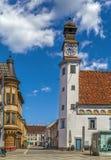Old City Hal, Leoben, Austria stock images