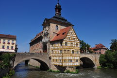 Old City Hall of Bamberg Germany Stock Image