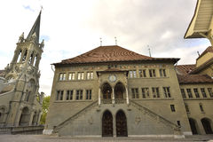 Old city hall in Bern (RatHaus). Switzerland. Royalty Free Stock Photography