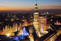 Old City Hall on Market Square in Wroclaw Stock Image
