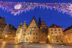 Old City Hall on Market Square in Wroclaw Stock Images