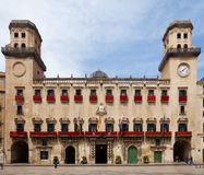 Old  city hall in spanish city. Alicante Royalty Free Stock Photos