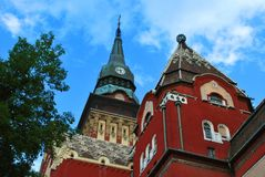The old City Hall in Subotica royalty free stock photos