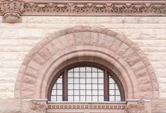 Old City Hall Toronto:Romanesque revival architectural detail Stock Images