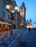 Old City Hall on the Town Square in Prague Stock Image