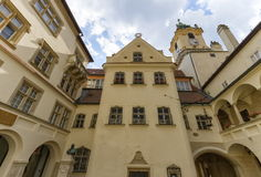 Old city hall yard in Bratislava, Slovakia Royalty Free Stock Images