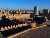 Old city of Ichan-Qala in Khiva, Uzbekistan Royalty Free Stock Photography