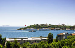 Old city Istanbul from anatolian side. Stock Photography