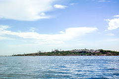 Old city Istanbul from anatolian side. Royalty Free Stock Photos